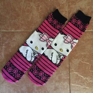 Charmmy Kitty Pink Black 2004 Sanrio Socks